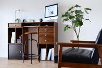 組合せユニット家具で作るカウンターデスク