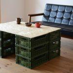 マルチ収納ボックスの新しい使い方その1「マルチ収納ボックスを使った簡単DIYテーブル」