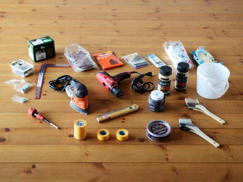 簡単なDIYに使う工具たち