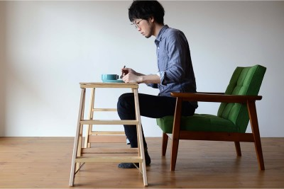 Kチェアとミシガンラダーで作ったテーブル
