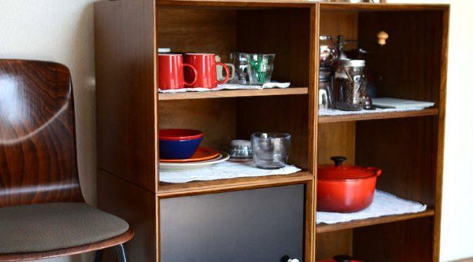 当店オリジナルのユニット家具でキッチン収納を