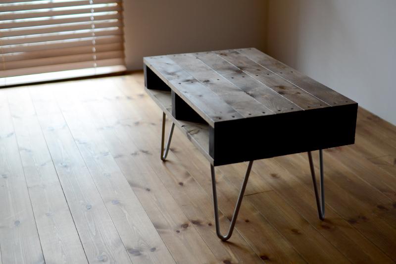 DIYでヘアピンレッグテーブルを