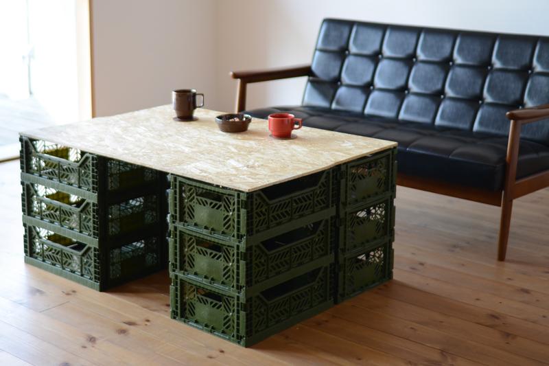 マルチ収納ボックスを簡単DIYでリビングテーブルとして使う
