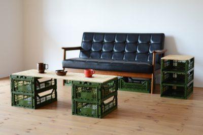 マルチ収納ボックスを使ったDIYのリビングテーブルは簡単にローテーブルとしても使える