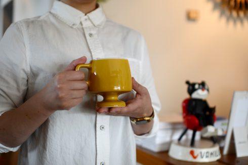 ゴブレットマグでコーヒータイム