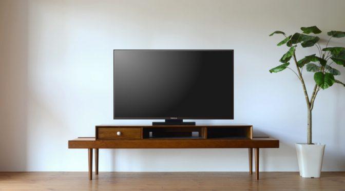 テレビとテレビ台のサイズのバランス