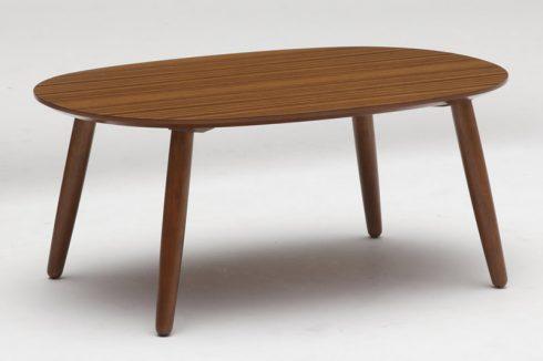 床に座っても使いやすいカリモク60+ ローテーブル