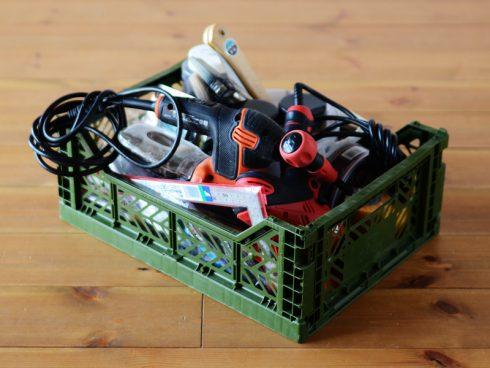 DIYツール・工具の収納にありがちなボックスから溢れた工具