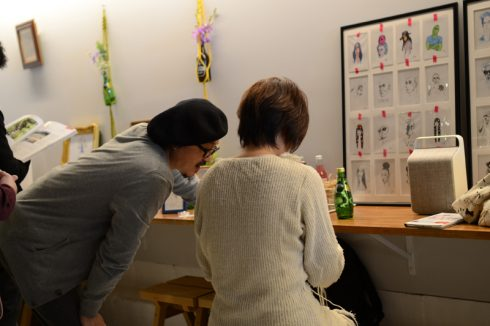 ハナヤサン+DJ カトウヒロシさんによるマクラメ編み(フラワーハンガー)のワークショップその2
