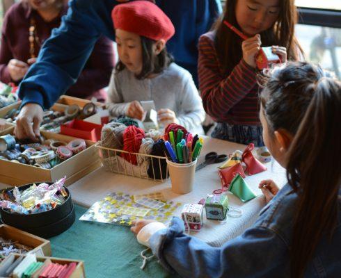 ラッピングアーティスト カミトリボンさんによるラッピングワークショップは大人もお子さんも楽しんでいただけます