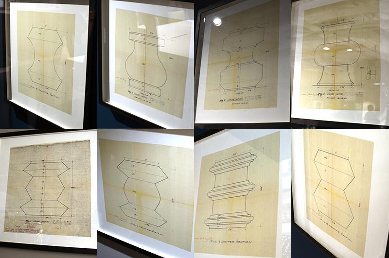 製品化には至らなかった幻のイームズ ウォールナットスツール 8枚のデザイン画