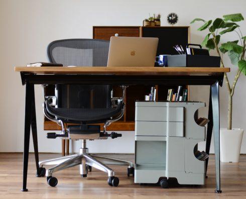 ボビーワゴン 2段2トレイ ユーコングレーは机の下にも収まるサイズ