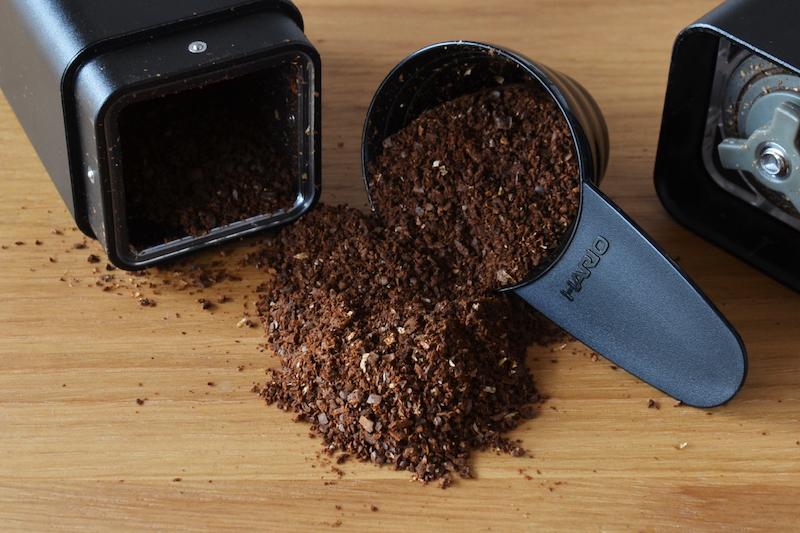 コーヒー豆の挽き具合はブラックペッパーあらびきくらい
