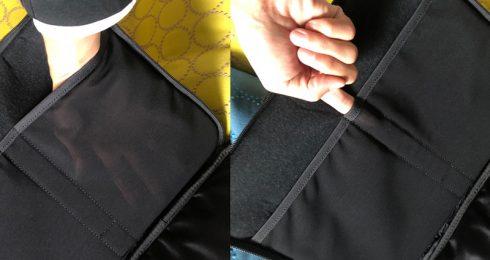 ポーター(吉田カバン)×マハラム ラップトップケースの中はメッシュ生地もあって中身も把握しやすい