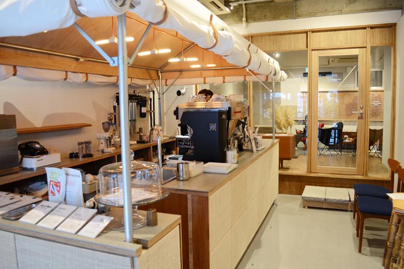 どこまでもおしゃれなOBROS COFFEEさんの店内