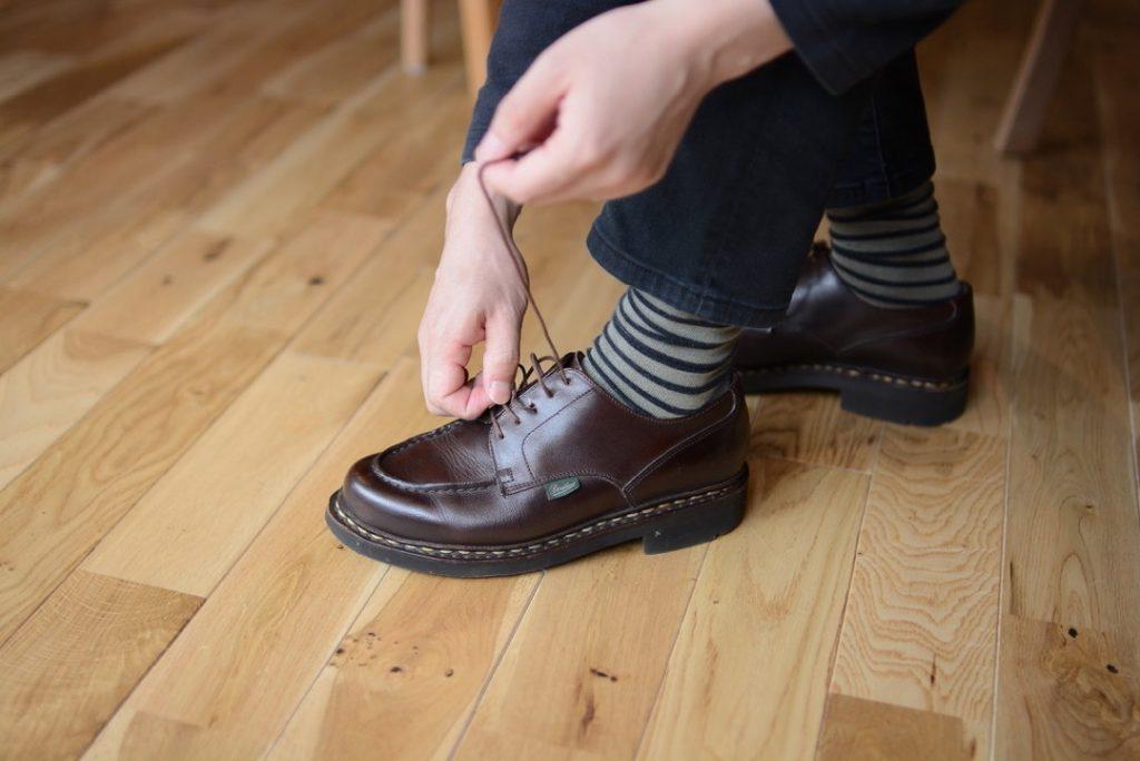 見せソックスも重要な靴