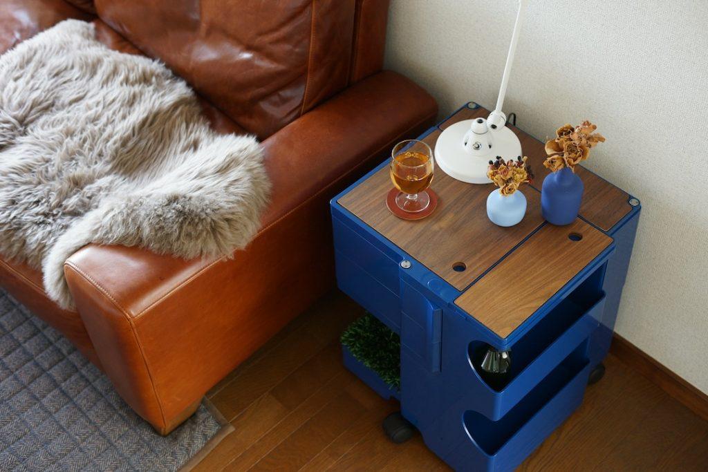 サイドテーブル代わりは鉄板の使い方